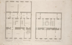 Plan of the parlor floor of Lindsey House